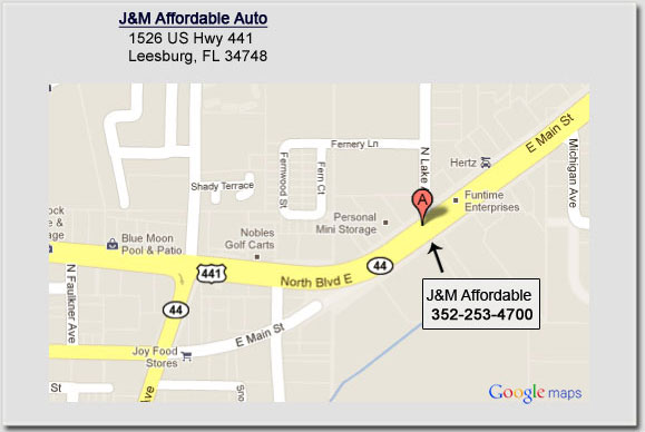 J&M Affordable Auto - map